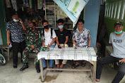 Melalui Komsos Babinsa Ajak Warga tetap Patuhi Prokes dan Himbau Warga untuk melaksanakan  Vaksin.
