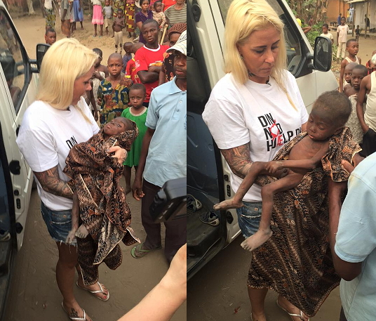 danish woman rescued nigerian baby boy