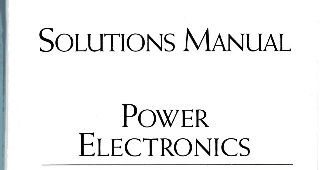 Puissance Electronique Bimbhra Pdf Telechargement Gratuit