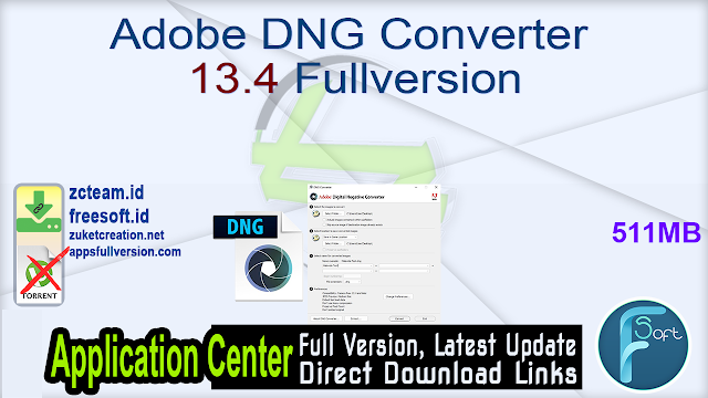 Adobe DNG Converter 13.4 Fullversion