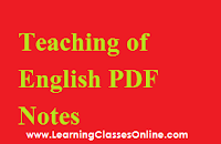 Pedagogy of English notes in hindi, Pedagogy of English book in hindi, Pedagogy of English pdf in hindi, Pedagogy of English study material in hindi, Pedagogy of English ebook in hindi, Pedagogy of English b.ed in hindi,