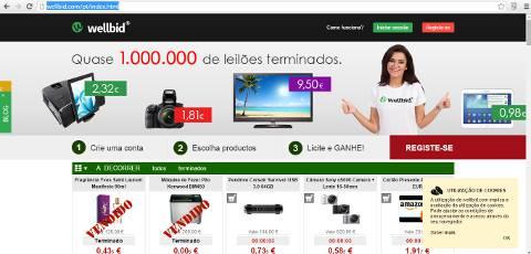 Leilões na Internet - Comprar barato Online