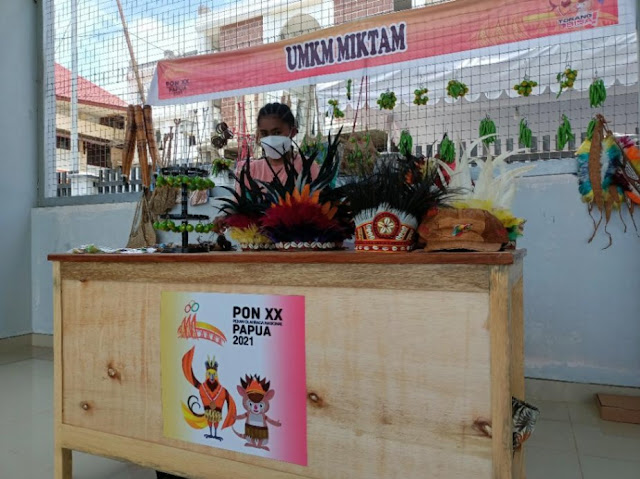 Pelaku UMKM di Stand Venue Tenis PON XX di Kantor Wali Kota Jayapura, Keluhkan Sepi Pembeli.lelemuku.com.jpg