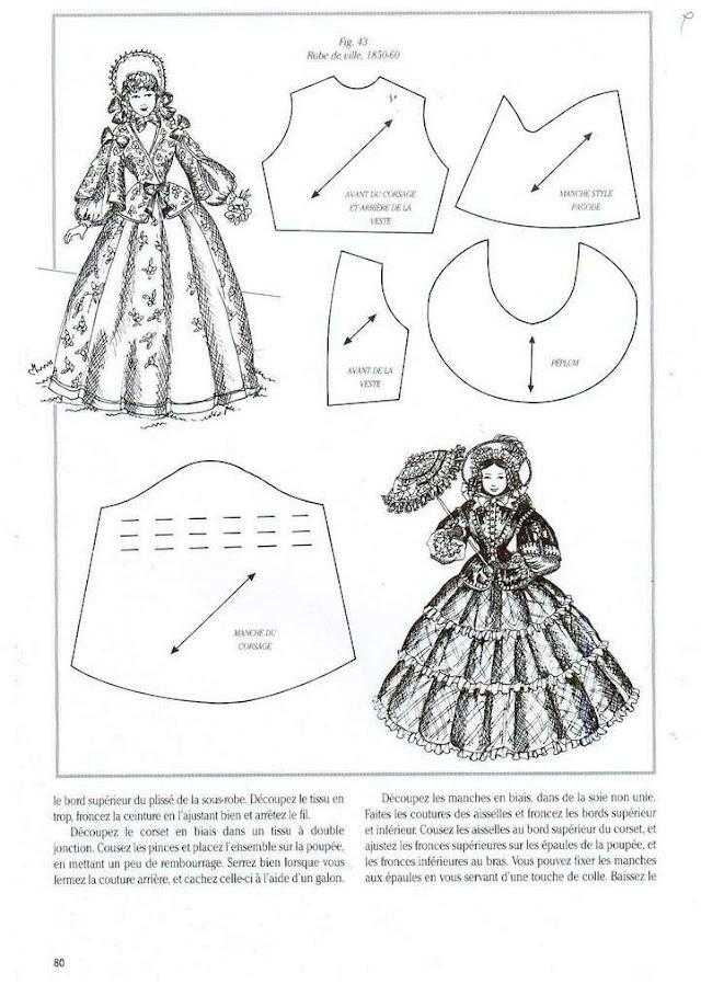 Выкройки исторических платьев для кукол