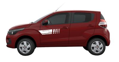 Adesivo lateral tuning para Fiat Mobi X11Auto LA lançamento 2016 2017