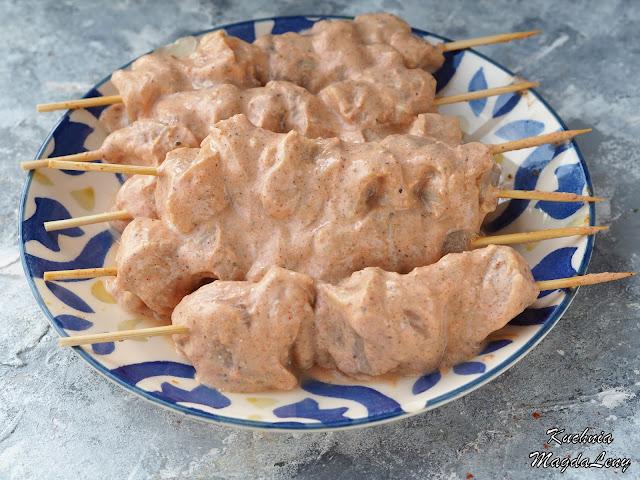 Szaszłyki w marynacie kebab-gyros