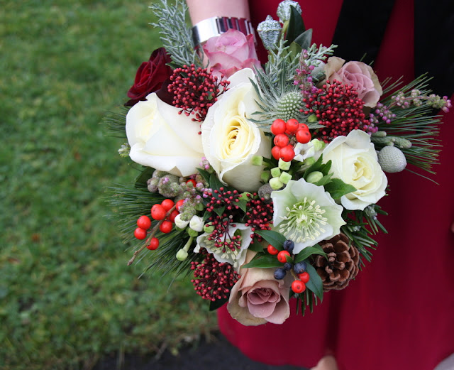A Sneaky Peek At The Rustic Christmas Wedding Day Of Sarah