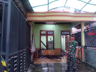 Kompor Gas Meledak, Rumah Terbakar Rugi 60 Juta