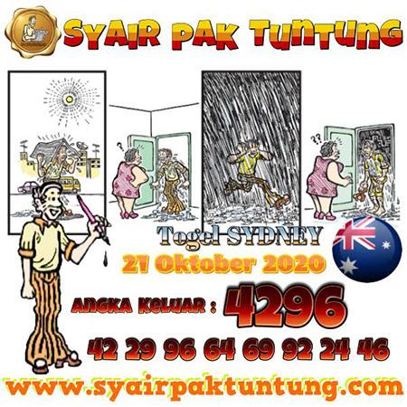 Syair Pak Tuntung Sydney Rabu 21 Oktober 2020