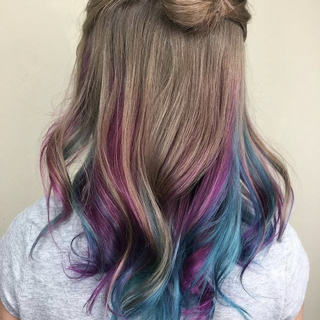 kids with dyed hair