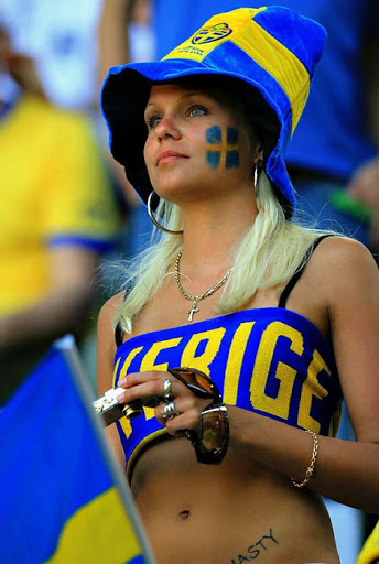 Supporter cewek cantik Swedia EURO '16
