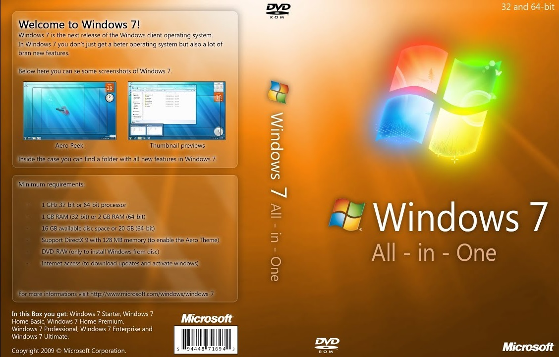BURN4EARN: Windows 7 AIO 32 / 64 Bit Feb 2019 Free Download