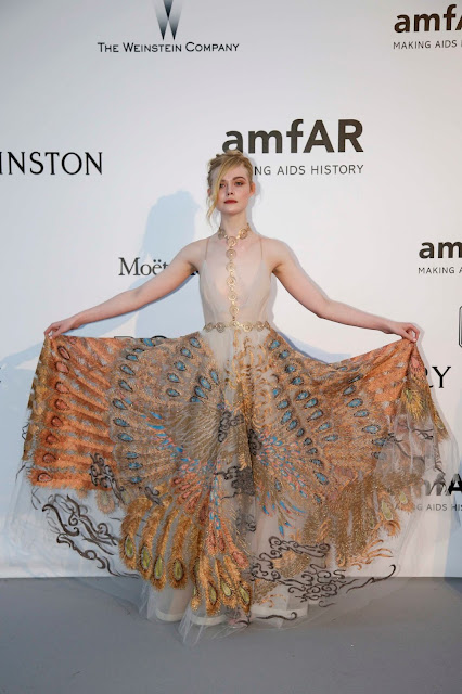 Actress, @ Elle Fanning at AmFAR's 23rd Cinema Against Aids Gala