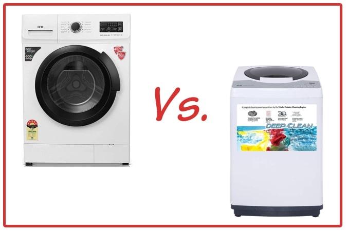 IFB Neo Diva BX (left) and IFB REW (right) Washing Machines.