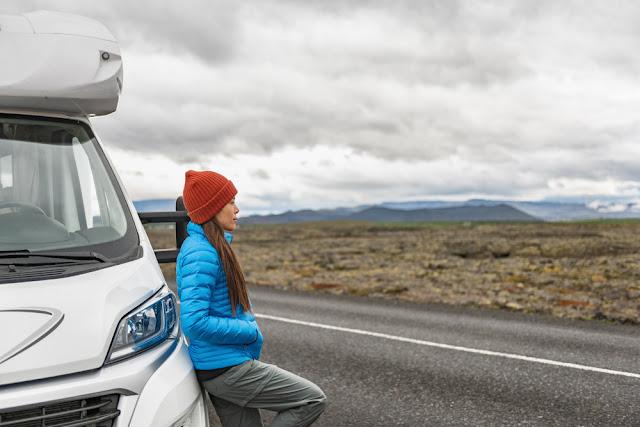 Motorhome rental Iceland advantages female camper