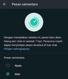 Whatsapp Terbaru Perkenalkan Fitur Pesan Sementara