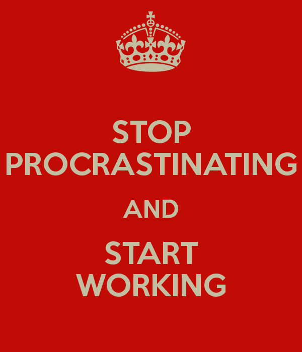 How can I stop procrastinating?