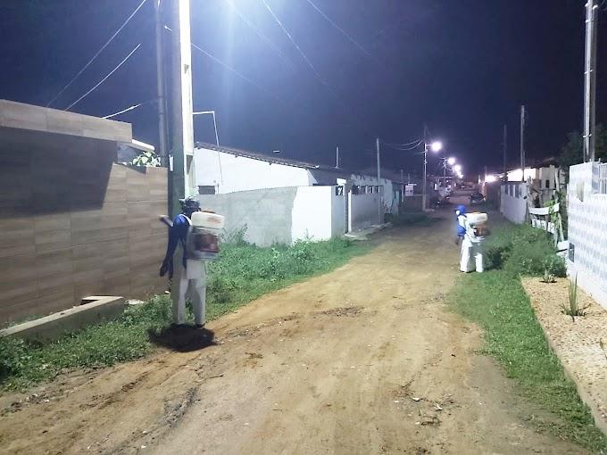 SÃO JOSÉ DOS RAMOS: Prefeitura segue realizando trabalho de desinfecção nas ruas e avenida do município.