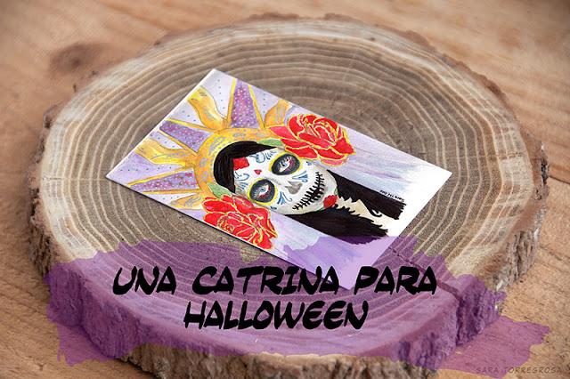 Ilustración de Catrina para el Reto Facilísimo de Halloween por Sara Torregrosa www.saratorregrosa.com