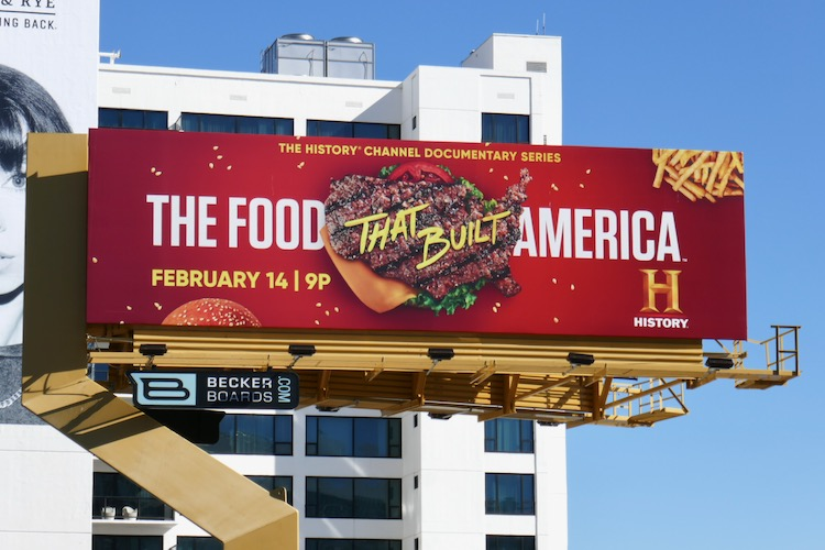 Food That Built America Burger billboard