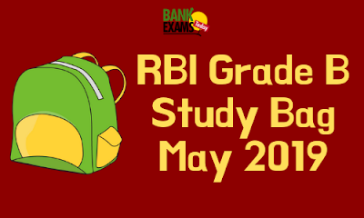 RBI Grade B Study Bag- May 2019