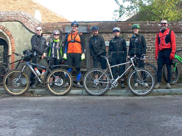 Mountain bike cycling, another group shot