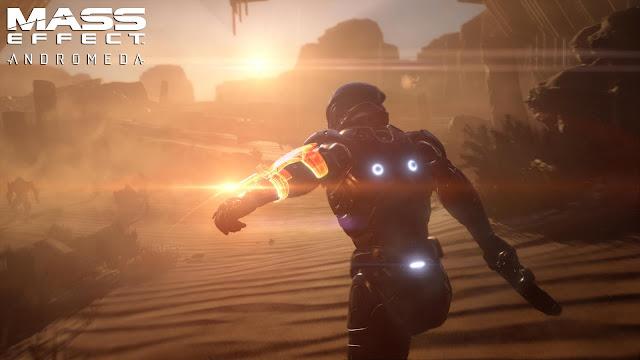 Otro cartel promocional del videojuego de exploración espacial Mass Effect Andromeda