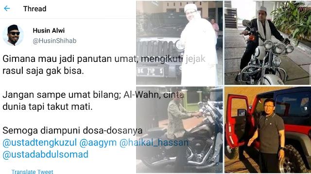 Husin Alwi PSI Bully Ustadz Pose dengan Kendaraan Mewah; Kriminolog: Hindari Bokeb!