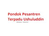 Lowongan Kerja Pondok Pesantren Terpadu Ushuluddin Terbaru