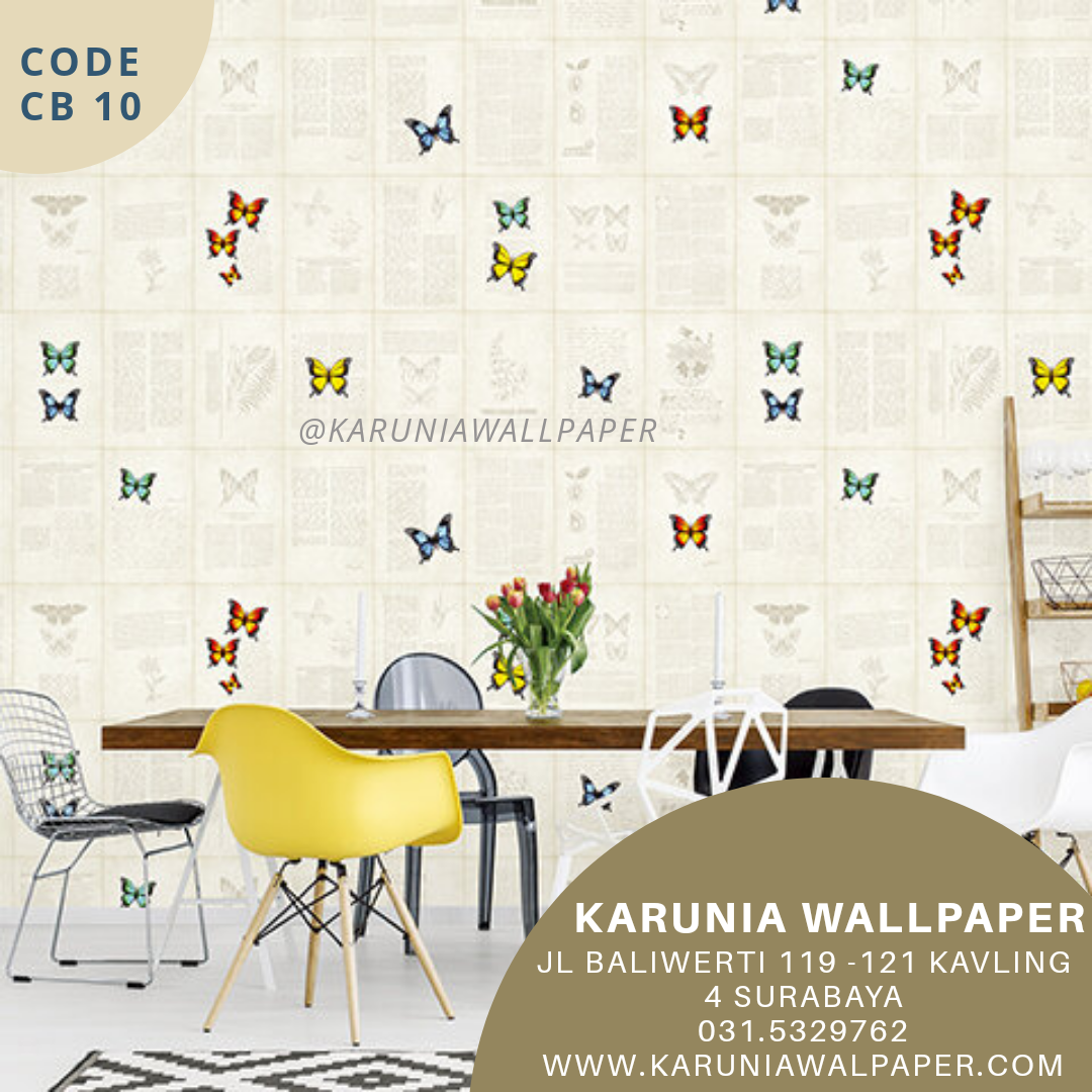 jual wallpaper kupu kupu