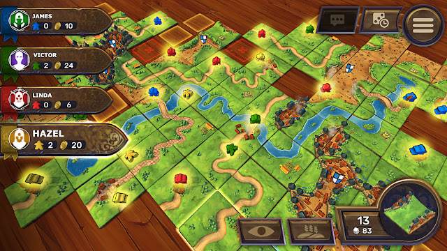 Screenshot from computer game Carcassonne
