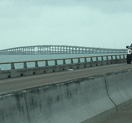 Portion of the bridge to South Padre Island (Source: Palmia Observatory)