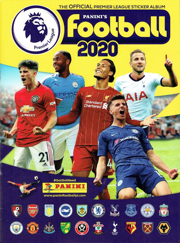 Panini Football 2020 Premier League Football Stickers Topps//Merlin