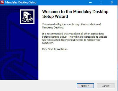 Cara Instal Mendeley