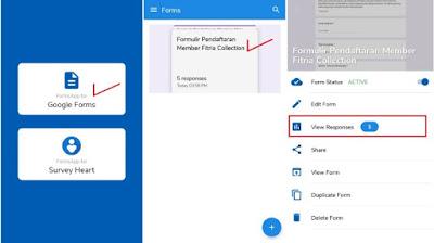 Cara Melihat Hasil Google Forms di Android
