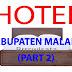 Daftar Hotel Di Kabupaten Malang (Part 2)
