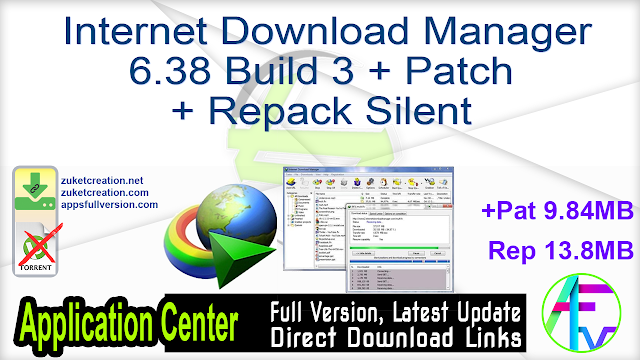 Internet Download Manager 6.38 Build 3 + Patch + Repack Silent