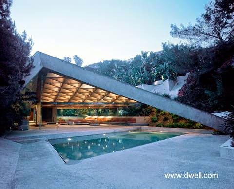 Sheats House de Lautner año 1963 en Los Angeles, Estados Unidos