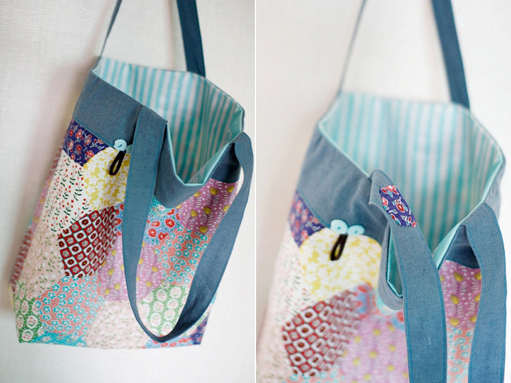Shopper Tote Bag Tutorial Diy Tutorial Ideas