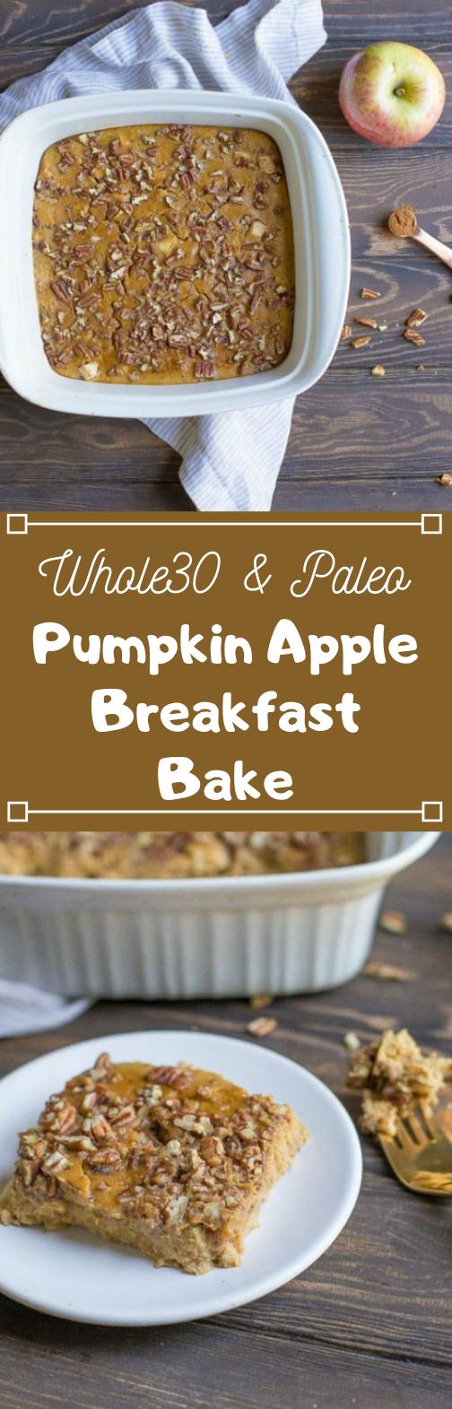 PUMPKIN APPLE BREAKFAST BAKE #diet #desserts #keto #paleo #breakfast