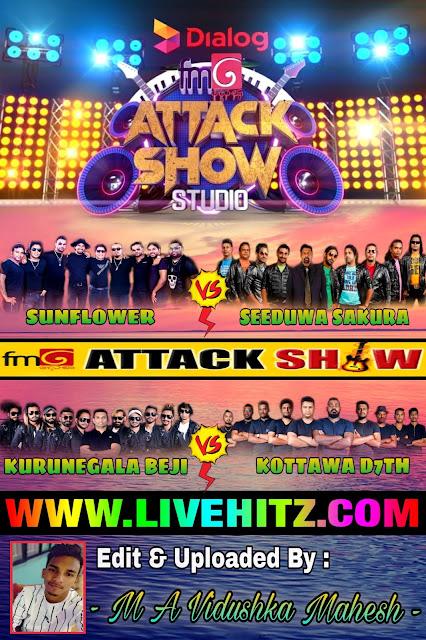 FM DERANA ATTACK SHOW STUDIO WITH 4 BANDS 2020 - 08 - 21