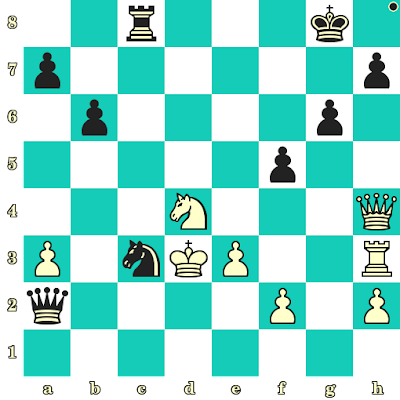 Les Noirs jouent et matent en 2 coups - Rodolfo Kalkstein vs D Isaacson, Tel Aviv, 1964