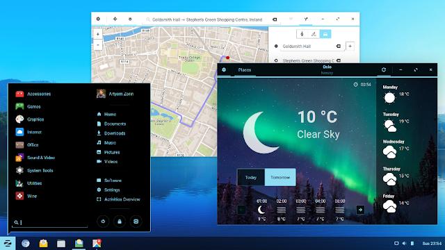 Zorin OS 12 executando o ambiente de trabalho Zorin Desktop 2.0