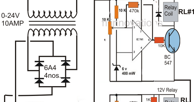 3 Step Automatic Battery Charger/Controller Circuit
