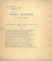 "First page of ""Satan Absolved"""