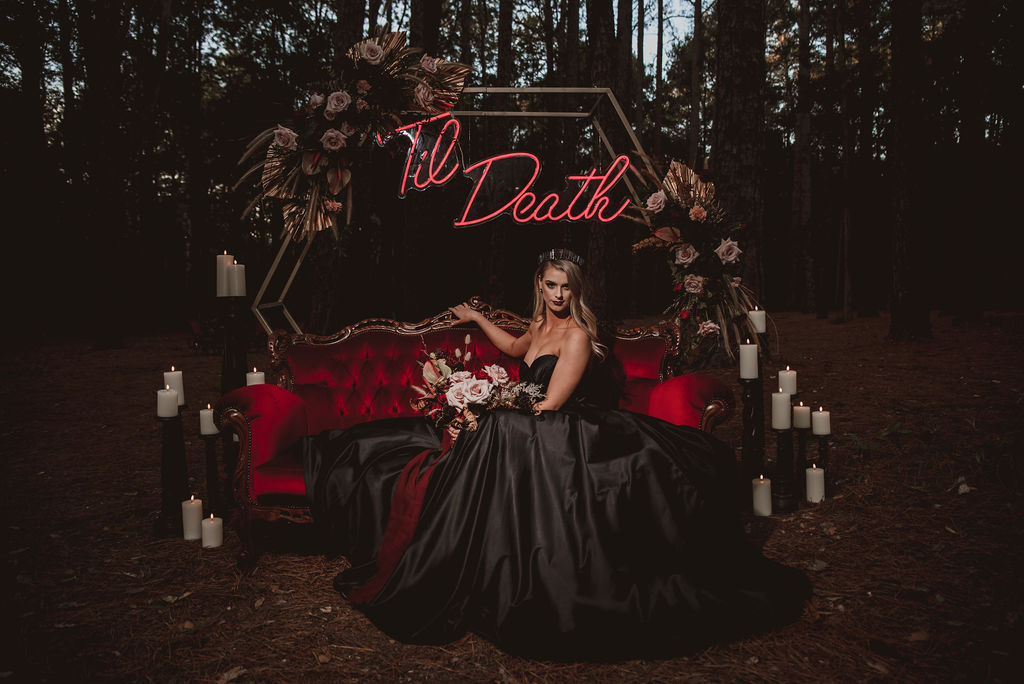 STYLED: TIL DEATH   DRAMATIC WITCHY WINTER WEDDING STYLING NEWCASTLE NSW