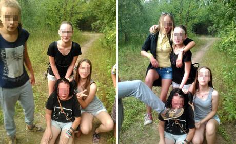 Школьники заставили свою подругу есть грязь и танцевать голой… / Видео