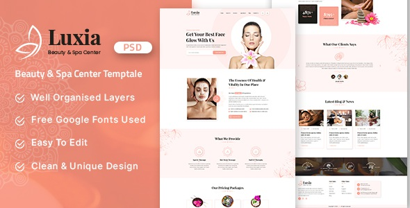 Best Beauty & Spa Center PSD Template