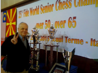 Jaume Anguera en el World Senior Chess Championship 2015