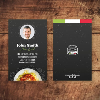 download template id card